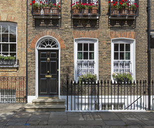 A townhouse like this one could be protected by a landlords insurance policy arranged by CSW Insurance Brokers