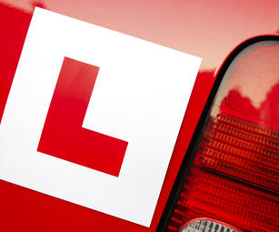 A learner driver covered by provisional drivers insurance arranged by CSW Insurance Brokers