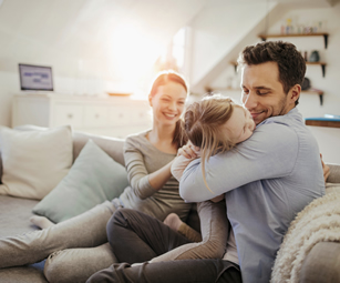 A family at home. At CSW Insurance Brokers we can provide a wide range of personal insurance policies.