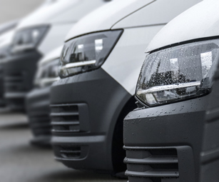 A small fleet of commercial vehicles covered by a small fleet insurance policy arranged by CSW Insurance Brokers.